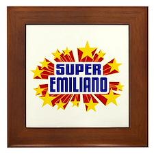 Emiliano the Super Hero Framed Tile