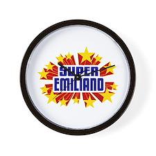 Emiliano the Super Hero Wall Clock