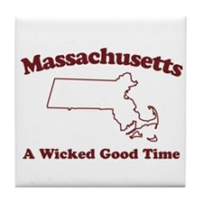 Massachusetts Tile Coaster