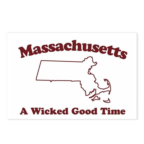 Massachusetts Postcards (Package of 8)
