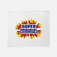 Emmanuel the Super Hero Throw Blanket