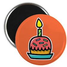Birthday Cake (orange) Magnet