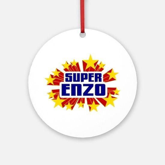 Enzo the Super Hero Ornament (Round)
