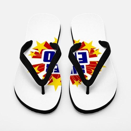 Enzo the Super Hero Flip Flops