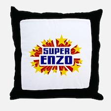 Enzo the Super Hero Throw Pillow