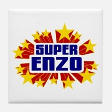 Enzo the Super Hero Tile Coaster