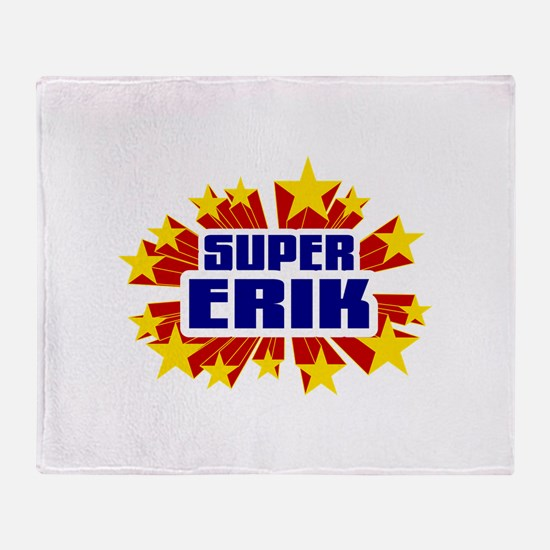 Erik the Super Hero Throw Blanket