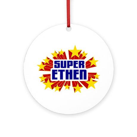 Ethen the Super Hero Ornament (Round)