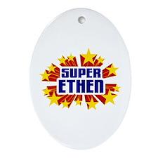 Ethen the Super Hero Ornament (Oval)