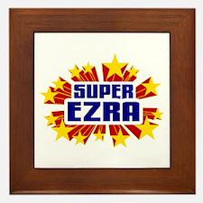 Ezra the Super Hero Framed Tile