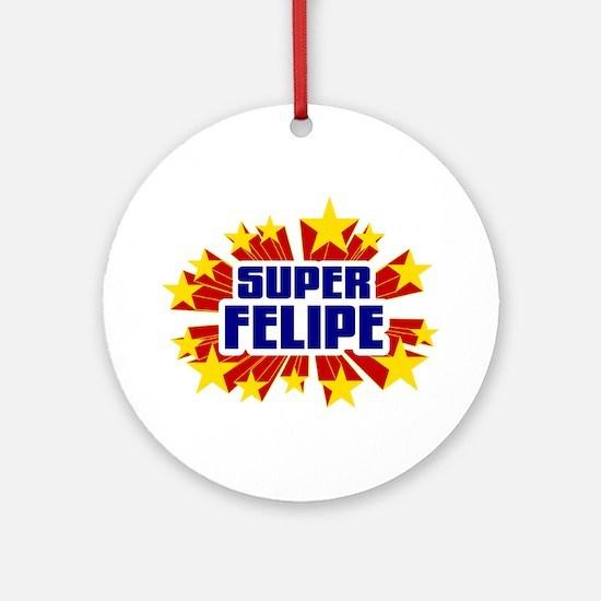 Felipe the Super Hero Ornament (Round)
