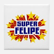 Felipe the Super Hero Tile Coaster