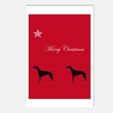 Merry Christmas Greyhound Postcards (Package of 8)