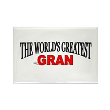 """The World's Greatest Gran"" Rectangle Magnet"