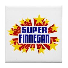 Finnegan the Super Hero Tile Coaster