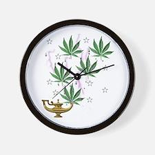 Magic Marijuana Art Wall Clock