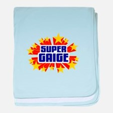 Gaige the Super Hero baby blanket