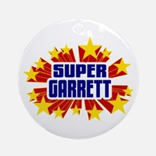 Garrett the Super Hero Ornament (Round)