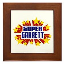 Garrett the Super Hero Framed Tile