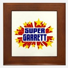 Garrett the Super Hero Framed Tile