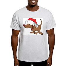Christmas Dog Ash Grey T-Shirt