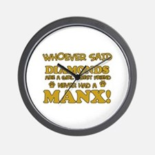 Funny Manx designs Wall Clock