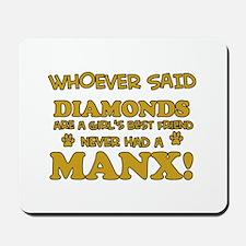 Funny Manx designs Mousepad