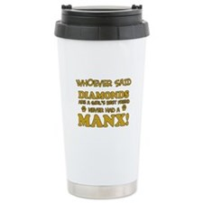 Funny Manx designs Travel Mug