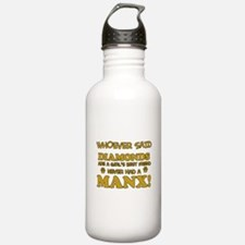 Funny Manx designs Water Bottle