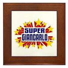 Giancarlo the Super Hero Framed Tile