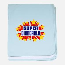 Giancarlo the Super Hero baby blanket