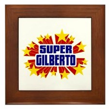 Gilberto the Super Hero Framed Tile