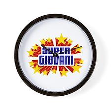 Giovani the Super Hero Wall Clock