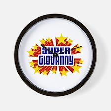 Giovanny the Super Hero Wall Clock