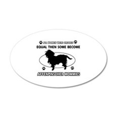 Funny Affenpinscher dog mommy designs Wall Decal