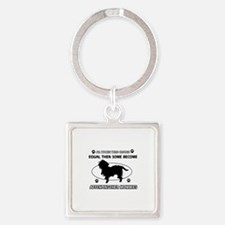 Funny Affenpinscher dog mommy designs Square Keych