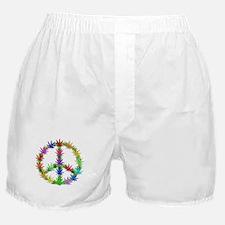 Rainbow Peace Marijuana Leaf Art Boxer Shorts