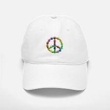 Rainbow Peace Marijuana Leaf Art Baseball Baseball Cap