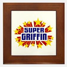 Griffin the Super Hero Framed Tile