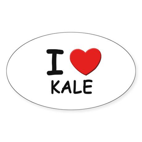 I love Kale Oval Sticker