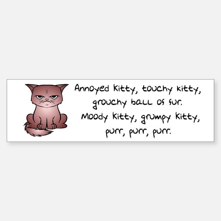 Grouchy Kitty Bumper Bumper Bumper Sticker