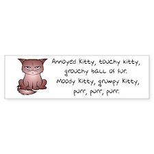 Grouchy Kitty Bumper Bumper Sticker