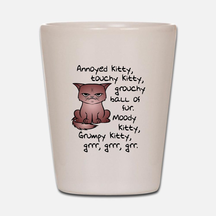 Grouchy Kitty Shot Glass