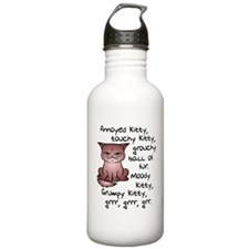 Grouchy Kitty Water Bottle