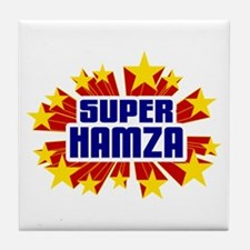 Hamza the Super Hero Tile Coaster