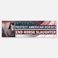 Anti-Horse Slaughter Bumper Bumper Bumper Sticker