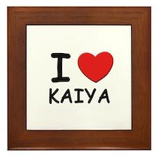 I love Kaiya Framed Tile