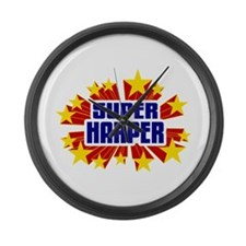Harper the Super Hero Large Wall Clock