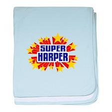 Harper the Super Hero baby blanket