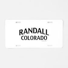 Randall Colorado Aluminum License Plate